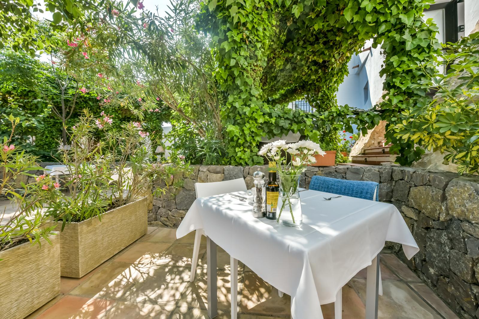 Mesa restaurante terraza